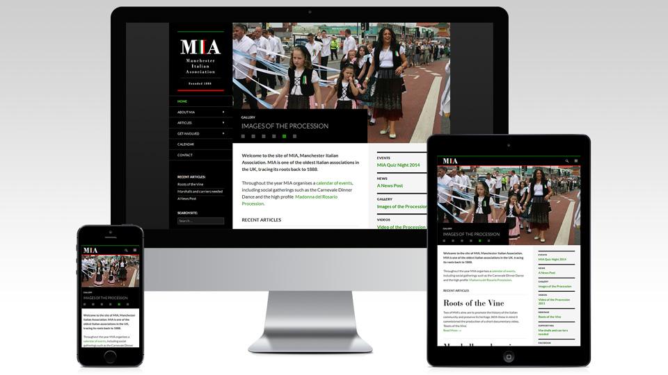 MIA website on iPhone, iPad and desktop