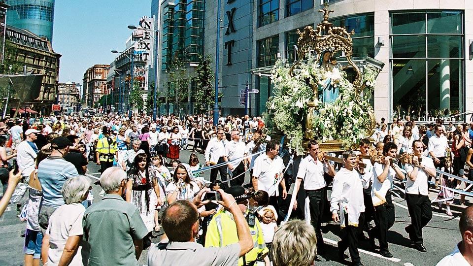 The Madonna Del Rosario Procession